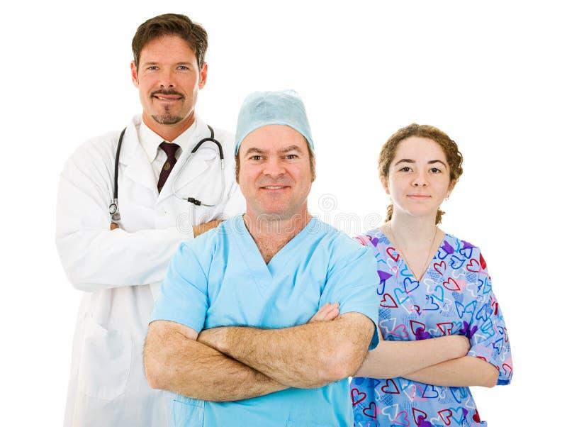 Personal médico del hospital agradable fotos de archivo