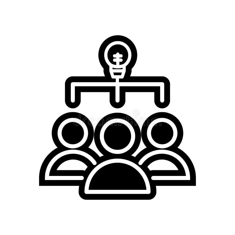 Personal mit Ideenlampenikone Element der Finanzierung f?r bewegliches Konzept und Netz Appsikone Glyph, flache Ikone f?r Website vektor abbildung