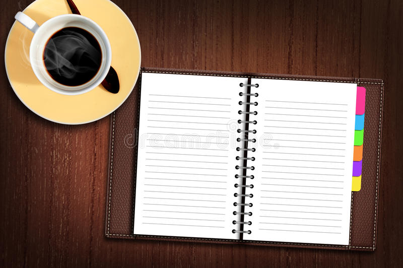 Download Personal Organizer On The Table Stock Illustration - Image: 25239206