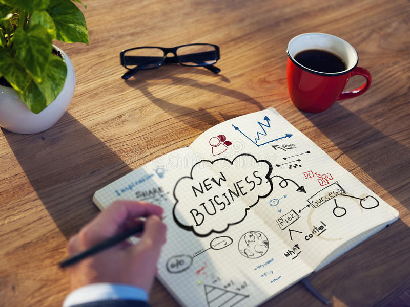 Personal Perspective of a Person Planning for Startup Business royalty free stock images