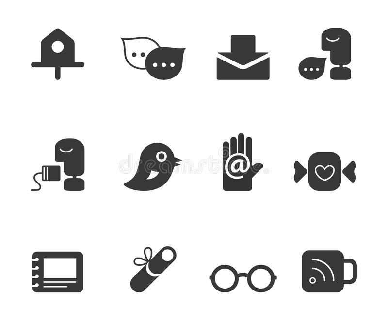 Download Personal Portfolio Icons stock vector. Image of icons - 25743886