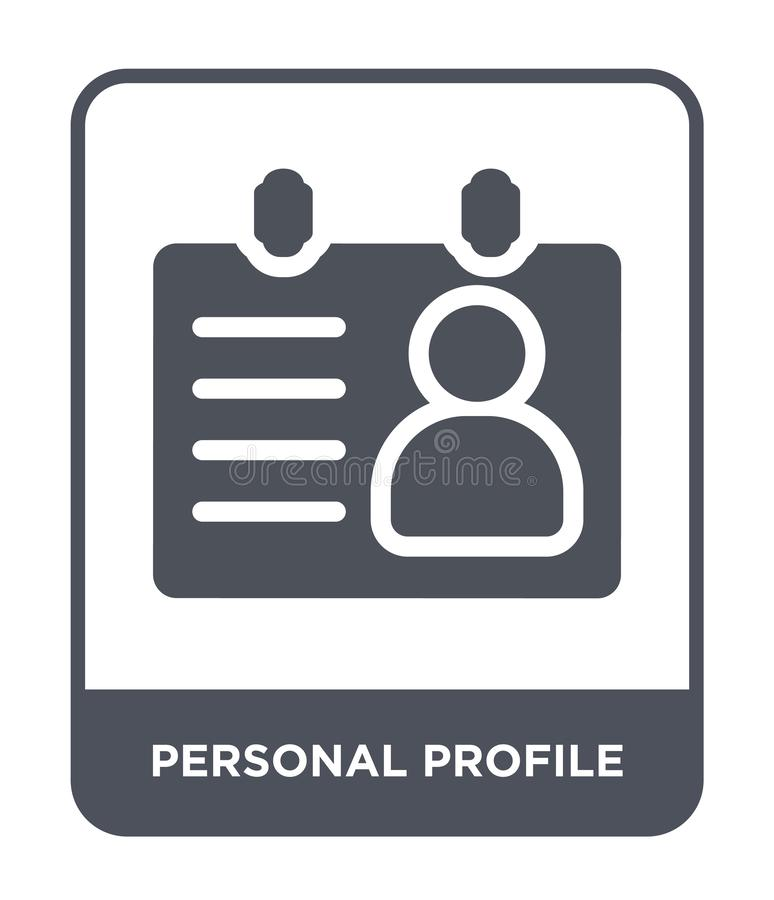 personal profile icon in trendy design style. personal profile icon isolated on white background. personal profile vector icon stock illustration
