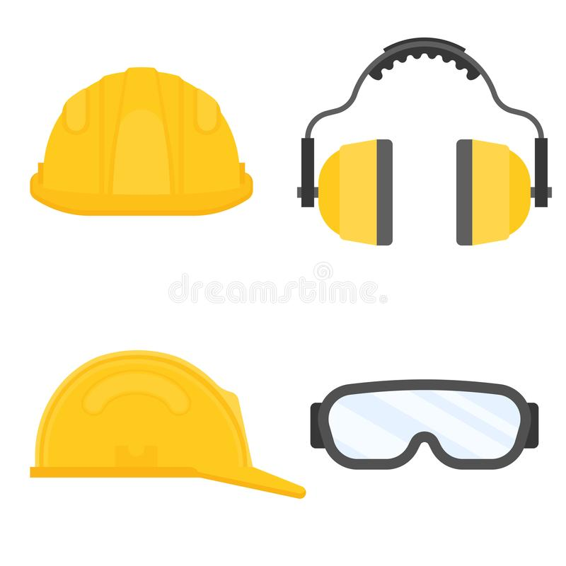 Personal protective equipment for industrial security vector illustration
