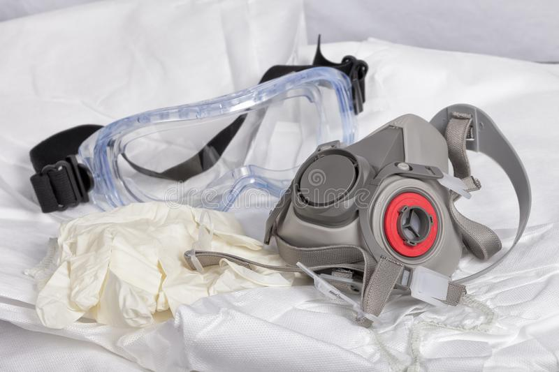 Personal protective equipment to paint royalty free stock photo