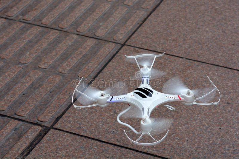 Personal quadcopter drone royalty free stock photo