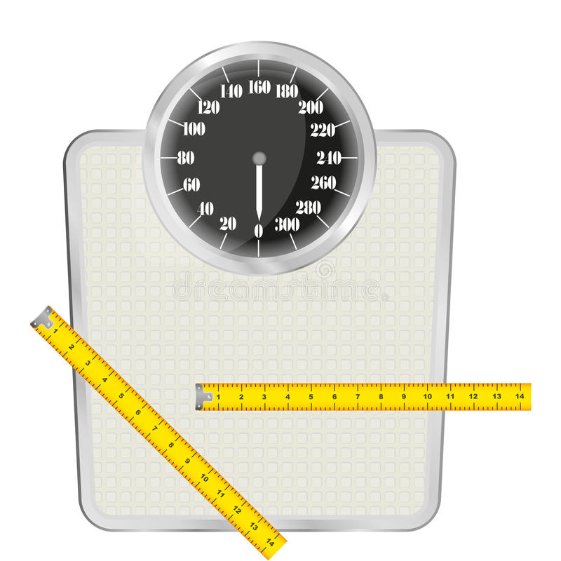 Download Personal scales stock illustration. Image of doctor, loss - 23114932