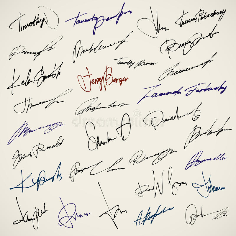 Download Personal signature stock vector. Illustration of autograph - 21983964