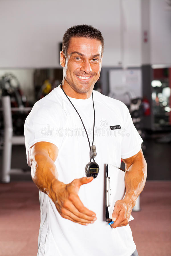 Download Personal Trainer Hand Shake Stock Image - Image: 24614637