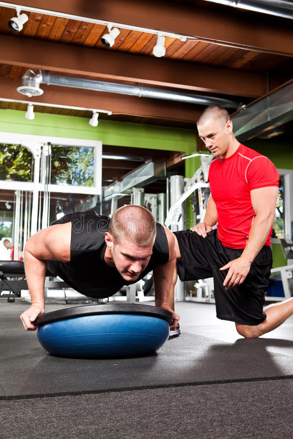 Personal training royalty free stock photography