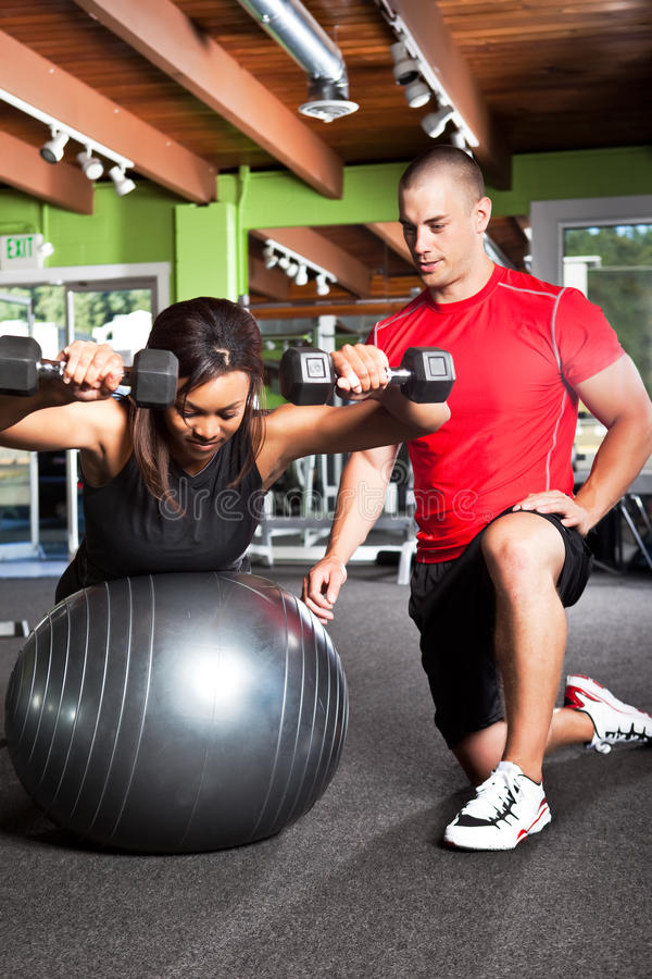 Personal training stock photography