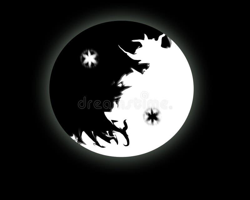 Personal Yin-Yang. An illustration of a personalized yin-yang, personal balance royalty free illustration