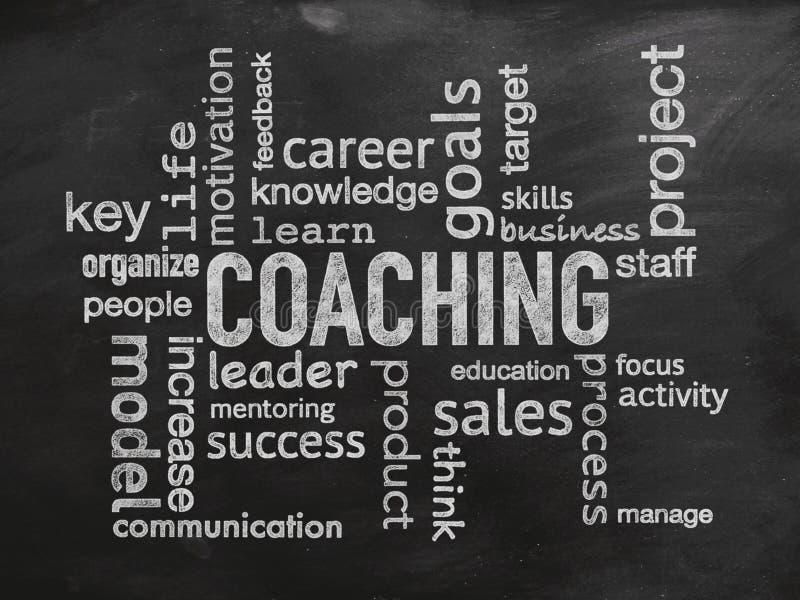 Personalcoachning och optimisation av din affär stock illustrationer