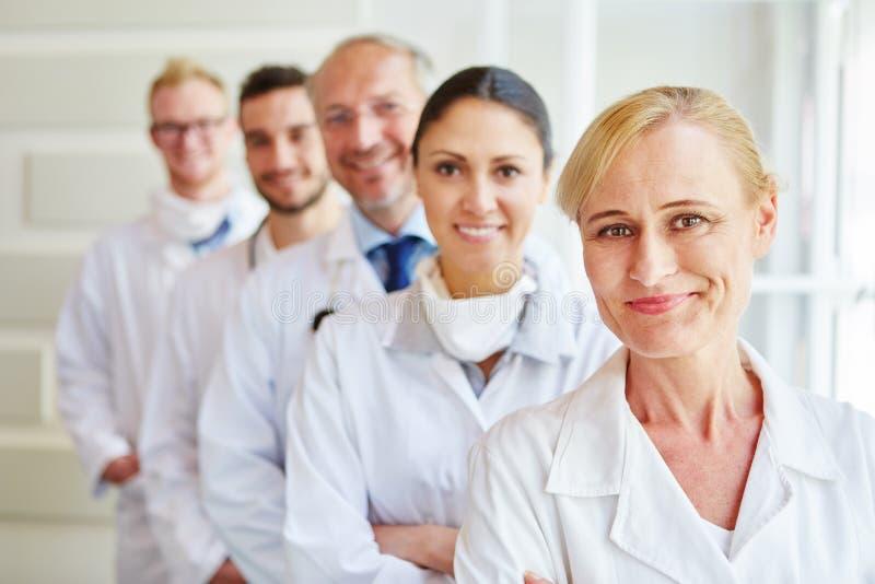 Personale della clinica come gruppo immagine stock libera da diritti