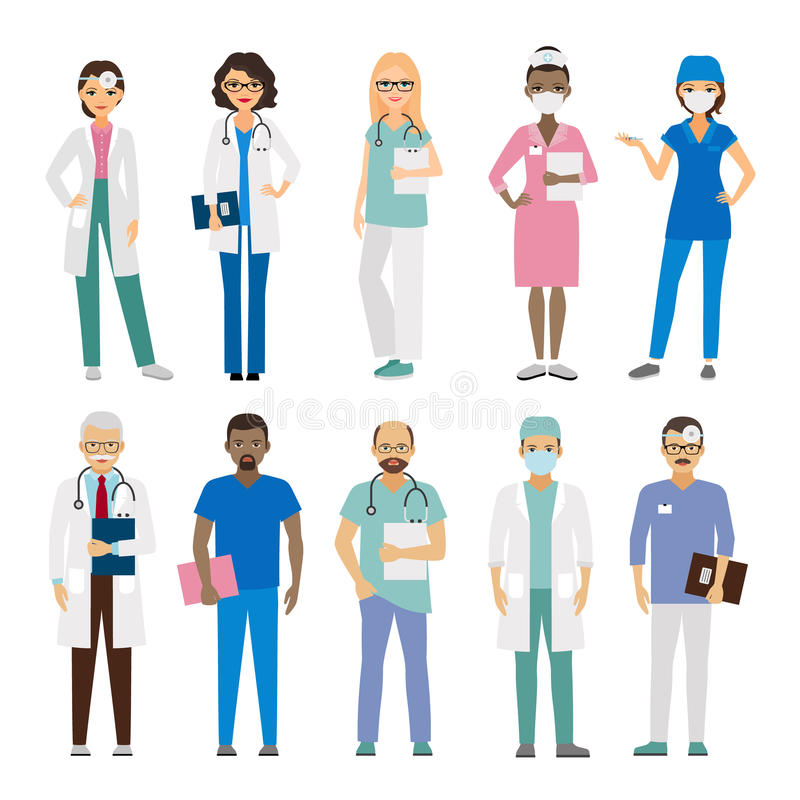 Personale medico dell'ospedale royalty illustrazione gratis