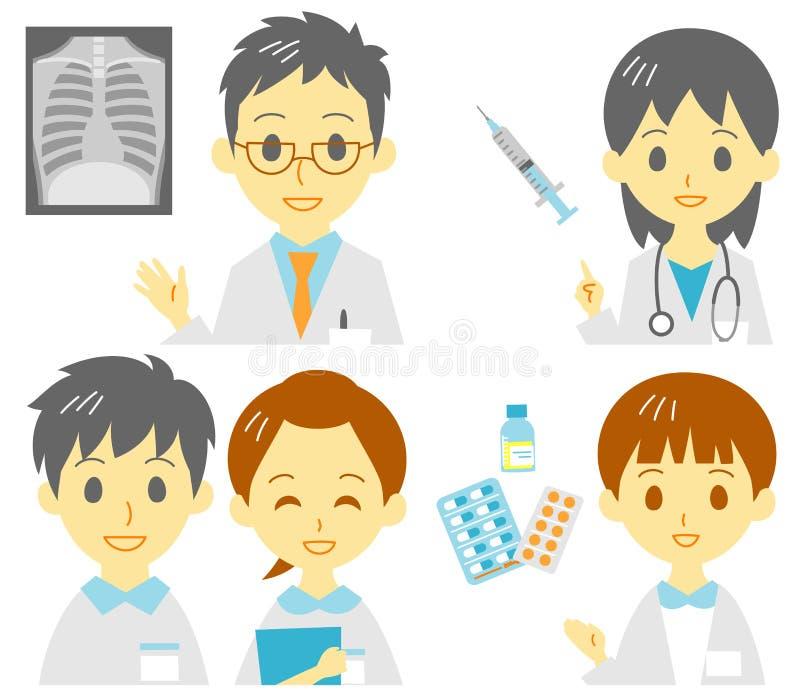 Personale medico, trattamento medico illustrazione vettoriale