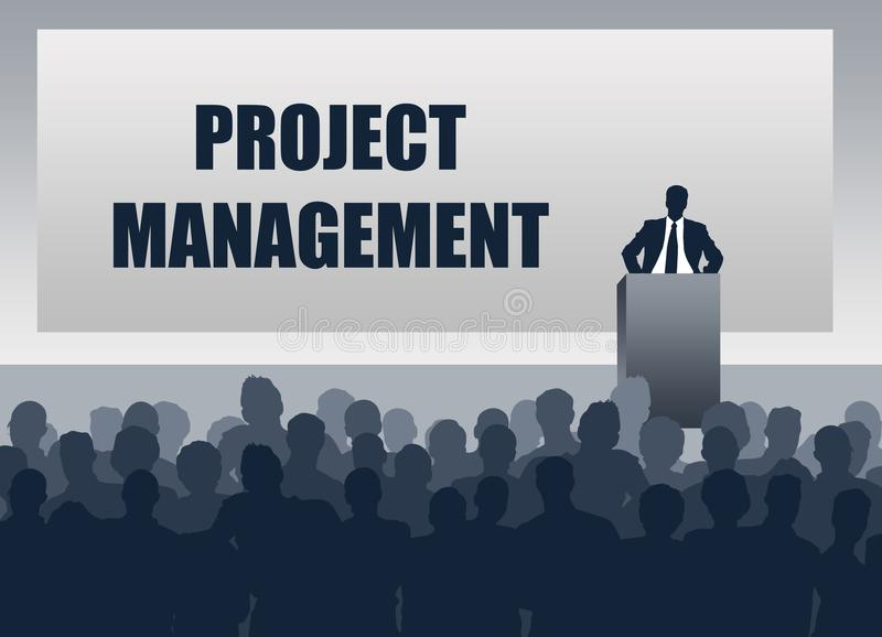 Personaler för presentation för projektledning stock illustrationer