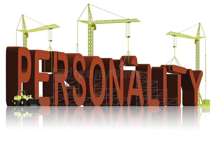 Personality building build character psychology royalty free illustration