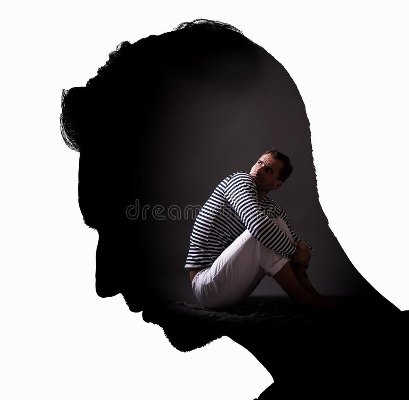 Free Personality In Prison Of The Mind Concept. Stock Image - 101682991