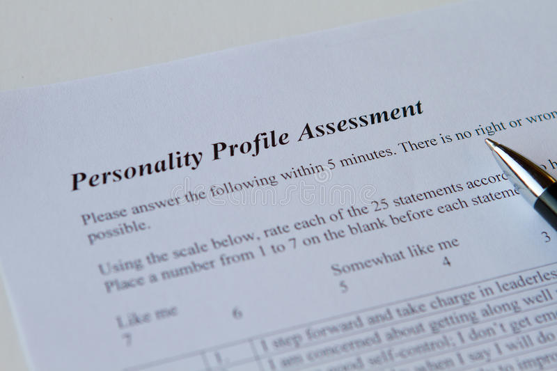 Personality Profile Assessment royalty free stock images