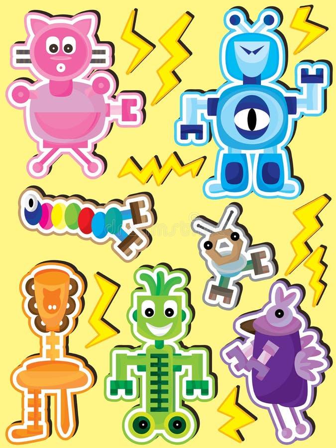 Free Personality Robot Set_eps Royalty Free Stock Image - 27132376