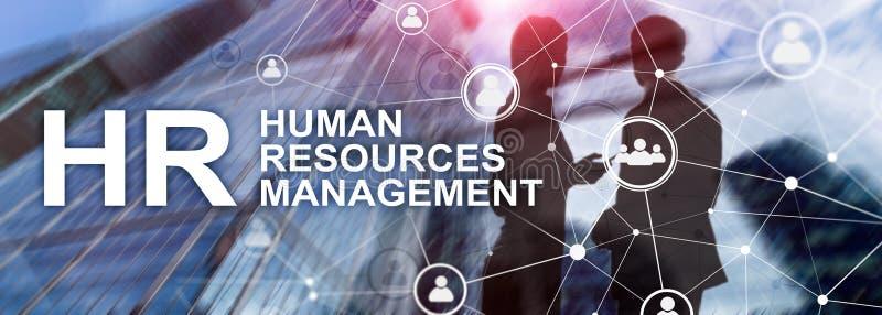 Personalmanagement, Stunde, Team Building und Einstellungskonzept auf unscharfem Hintergrund lizenzfreie stockfotos
