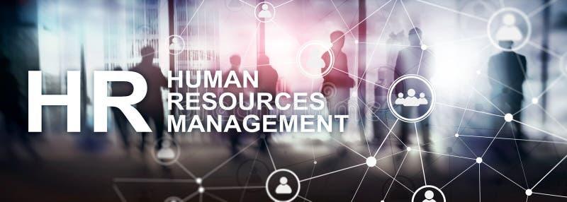 Personalmanagement, Stunde, Team Building und Einstellungskonzept auf unscharfem Hintergrund stockfotografie