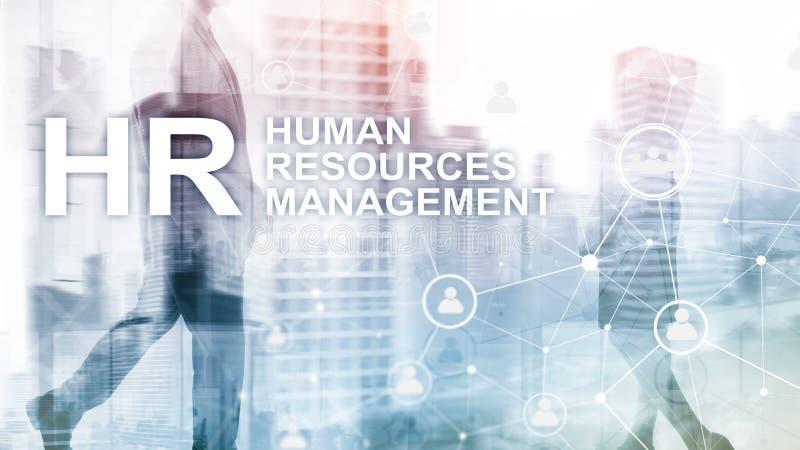 Personalmanagement, Stunde, Team Building und Einstellungskonzept auf unscharfem Hintergrund stockfoto