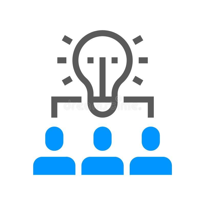 Personalmanagement-Vektor-Linie Ikone Team Arbeit Editable Anschlag Pixel 48x48 perfekt vektor abbildung