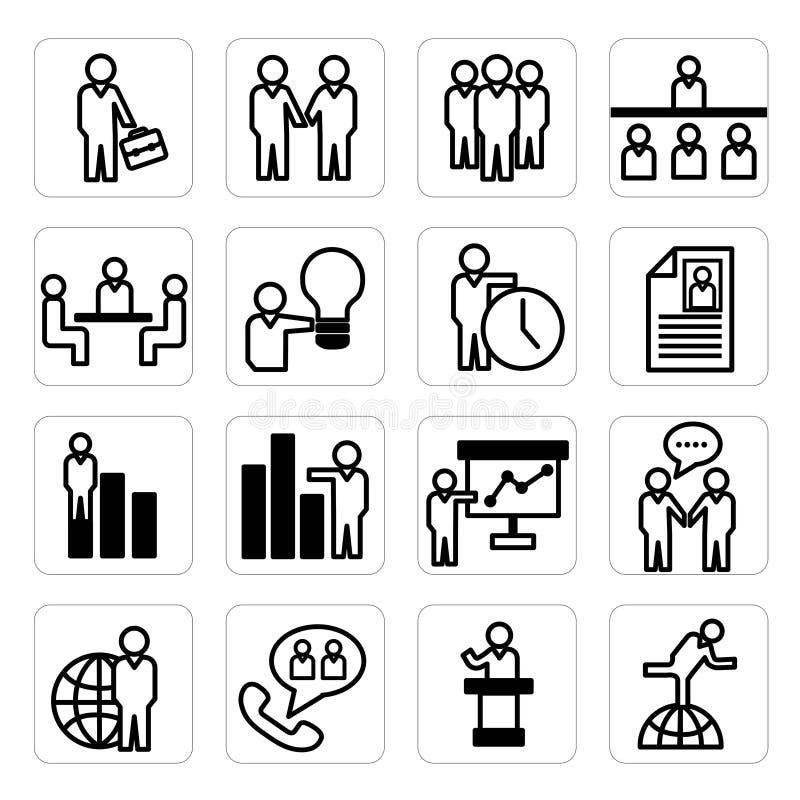 Personalresurs- och affärssymboler vektor illustrationer
