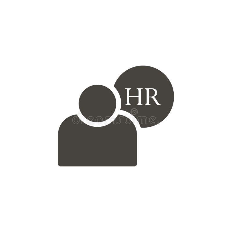 Personalresurser användarevektorsymbol Enkla beståndsdelillustrationHumanresurser, användarevektorsymbol r royaltyfri illustrationer