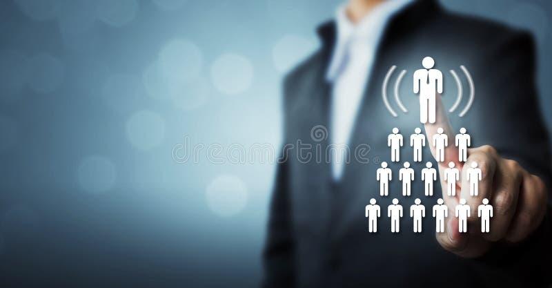 Personalresurser, CRM och rekryteringaffärsidé royaltyfri bild