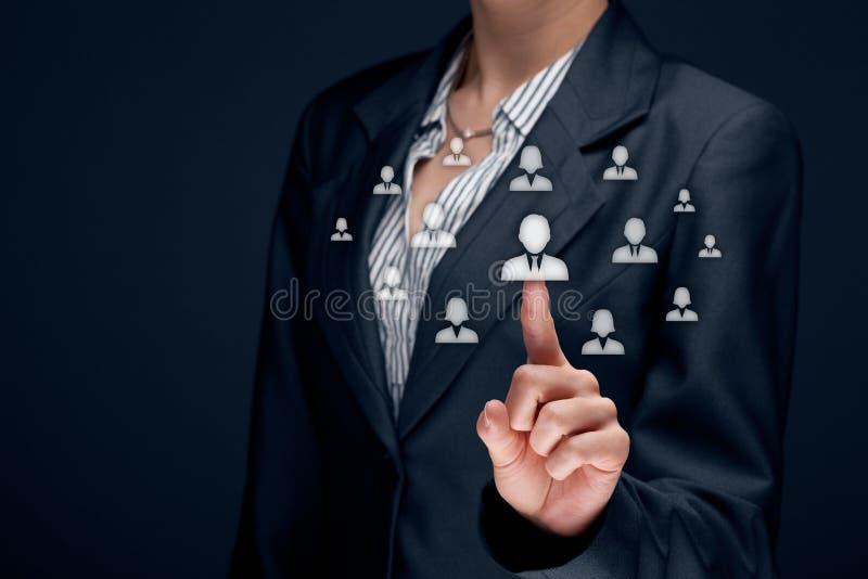 Personalresurser och CRM arkivbilder