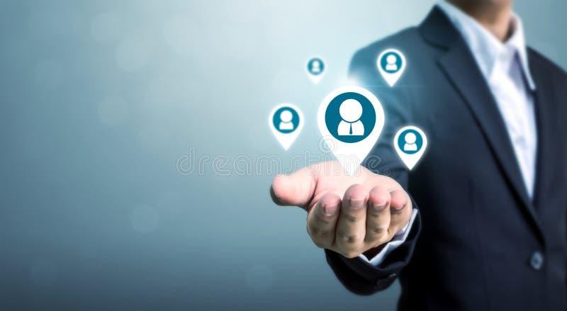 Personalresurser, talangledning och rekryteringaffär arkivbild