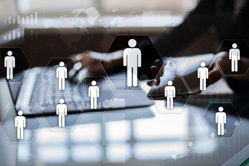 Personalresursledning, timme, rekrytering, ledarskap och teambuilding vektor illustrationer