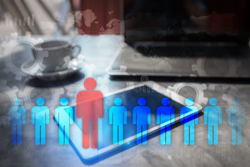 Personalresursledning, timme, rekrytering, ledarskap och teambuilding royaltyfri foto
