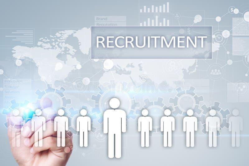 Personalresursledning, timme, rekrytering, ledarskap och teambuilding Affärs- och teknologibegrepp royaltyfria foton