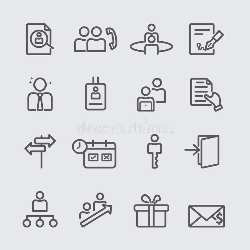Personalresurslinje symbol royaltyfri illustrationer