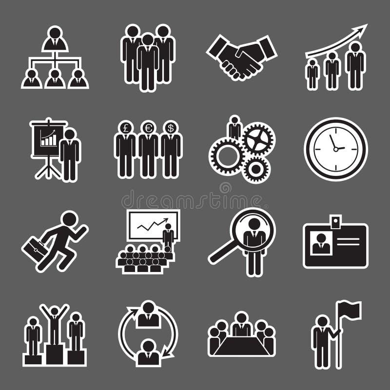 Personalresurssymbol vektor illustrationer