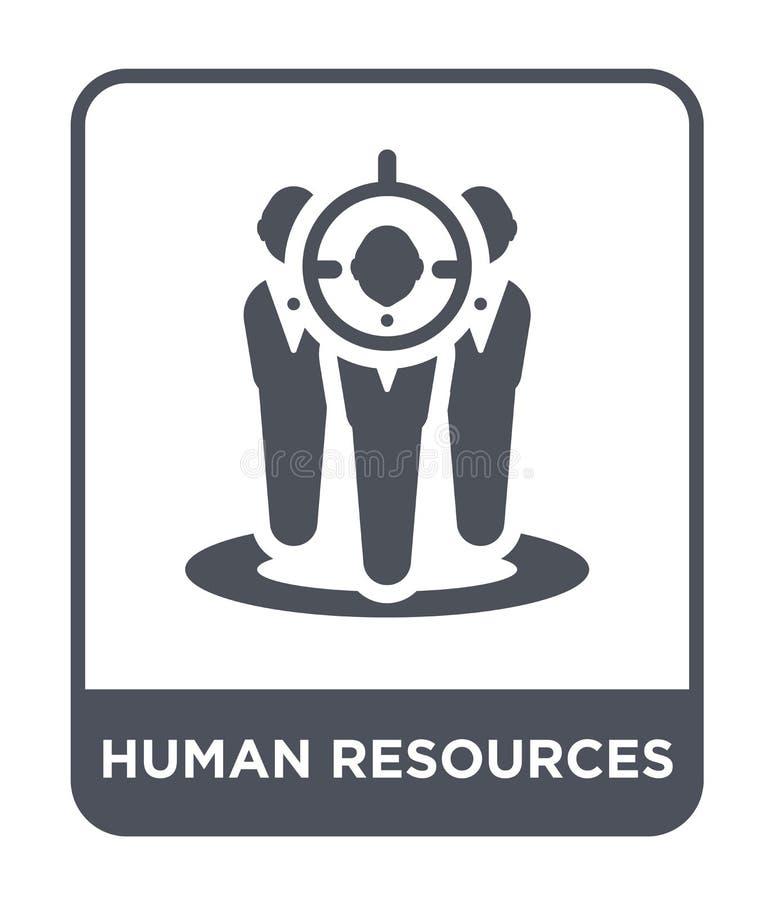 personalresurssymbol i moderiktig designstil Personalresurssymbol som isoleras på vit bakgrund enkel personalresursvektorsymbol stock illustrationer