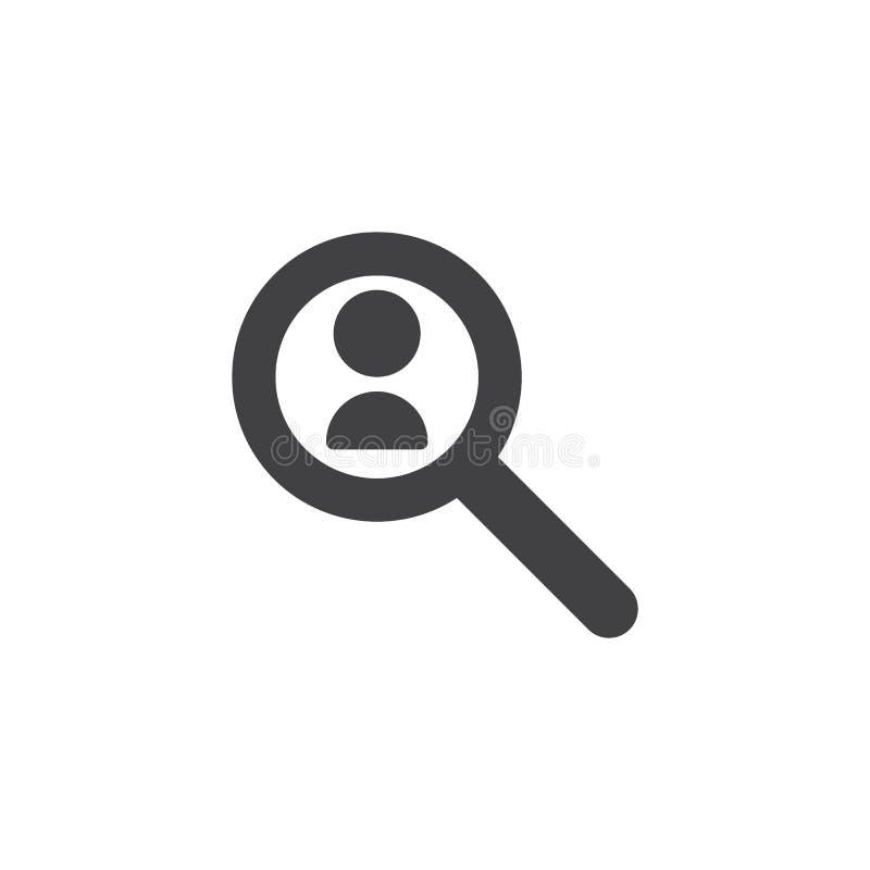 Personalresursvektorsymbol royaltyfri illustrationer
