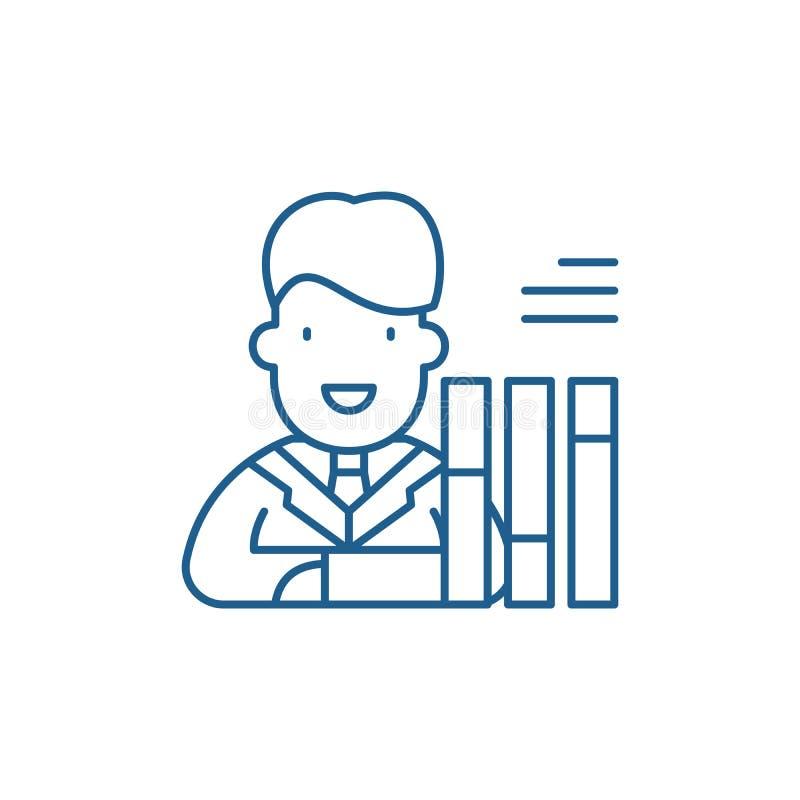 Personalsammanställningsrutalinje symbolsbegrepp Symbol för vektor för personalsammanställningsruta plant, tecken, översiktsillus stock illustrationer
