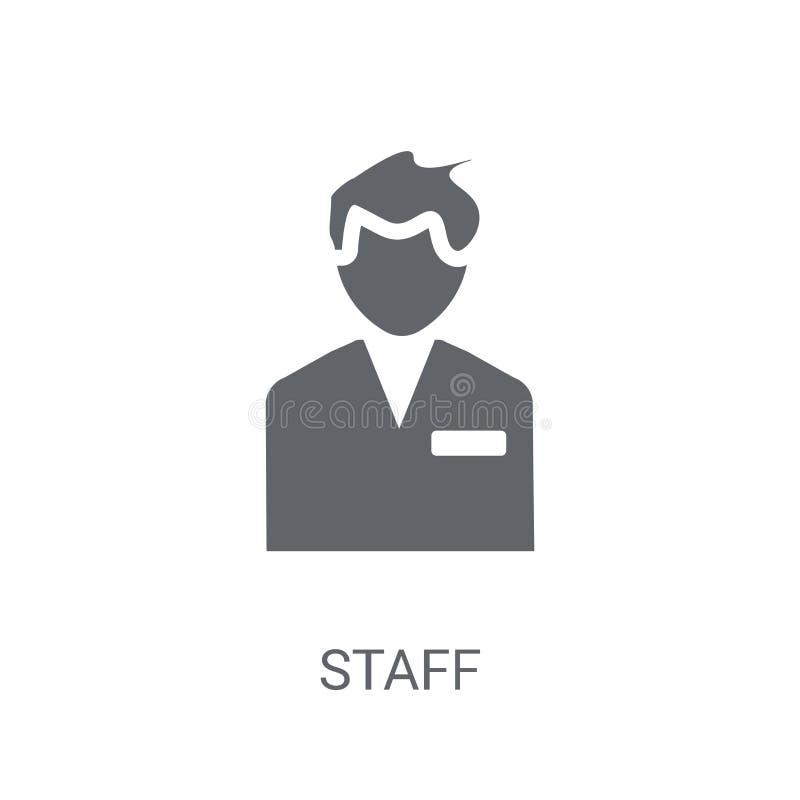 Personalsymbol Moderiktigt personallogobegrepp på vit bakgrund från H royaltyfri illustrationer