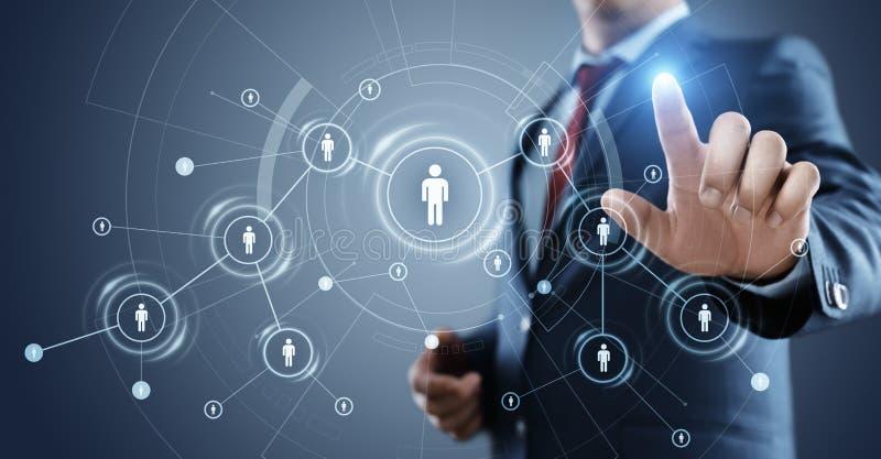 Personalwesen Stunden-Management Einstellungs-Beschäftigung, die Konzept Kopfjagd betreibt lizenzfreies stockfoto