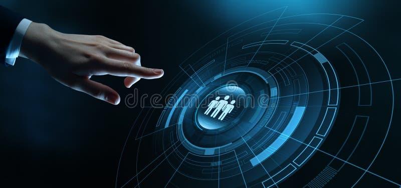 Personalwesen Stunden-Management Einstellungs-Besch?ftigung, die Konzept Kopfjagd betreibt stockbilder