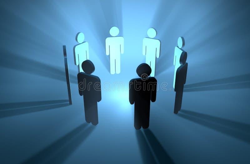 personas 3d stock de ilustración