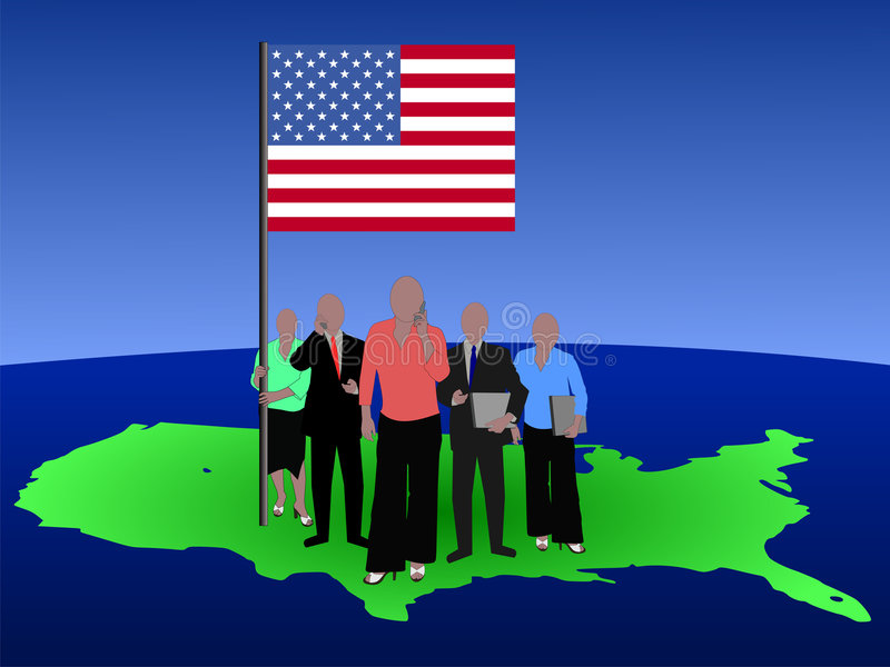 Personas americanas del asunto ilustración del vector