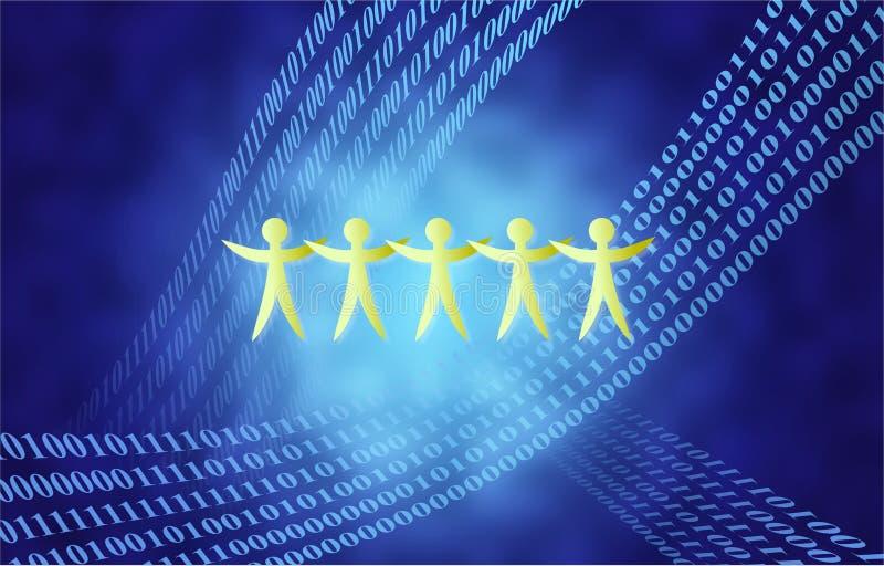 Personas binarias stock de ilustración