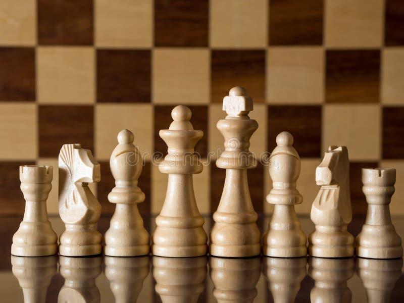 Personas blancas del ajedrez imágenes de archivo libres de regalías