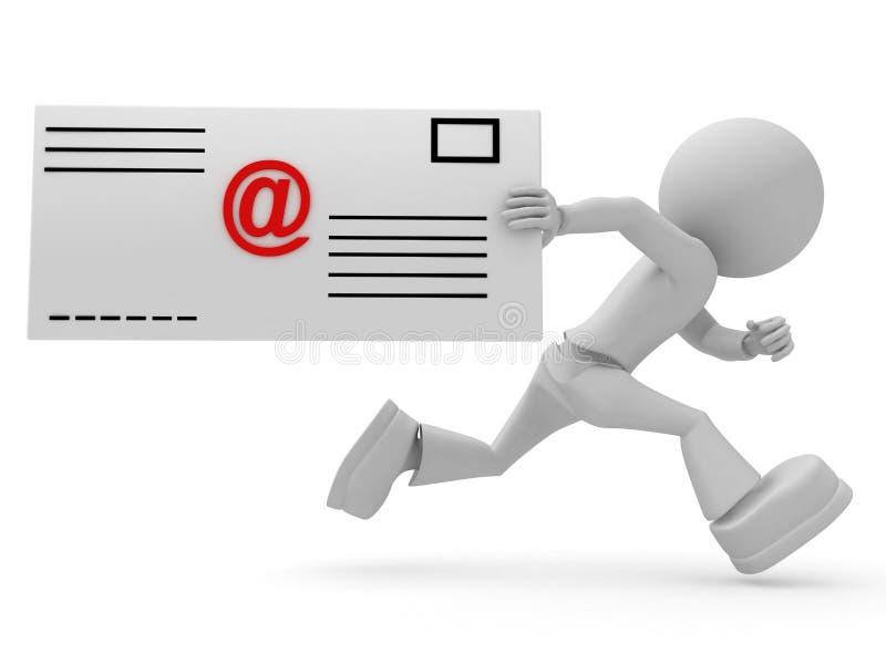 Personas con la carta del email stock de ilustración