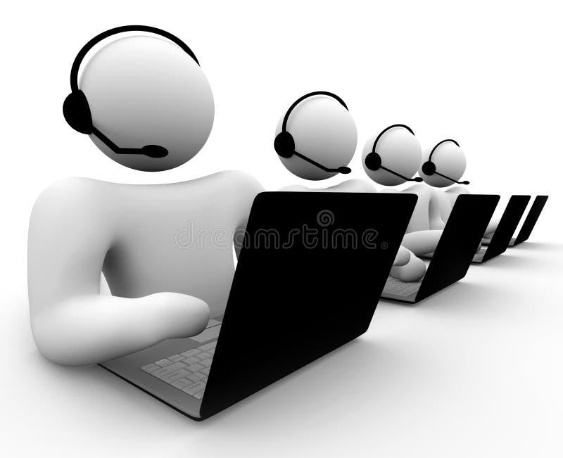 Personas de la atención al cliente libre illustration